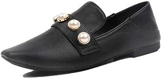 女性の靴ローファーカジュアルパールフラット通気性怠惰な靴屋外秋