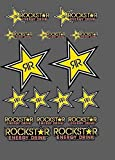 Set 16 Adhesivos Rockstar Mxgp Cruz Moto Energy Autoadhes Drink Stickers