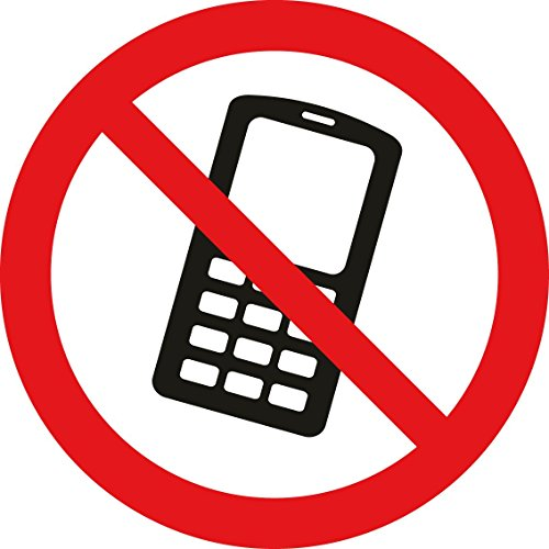 Mabi-IN-Design 2 Stück Aufkleber Handy verboten A058