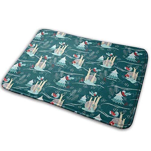 """BLSYP Felpudo Winter Forest Doormat Anti-Slip House Garden Gate Carpet Door Mat Floor Pads 15.8"""" X 23.6"""""""
