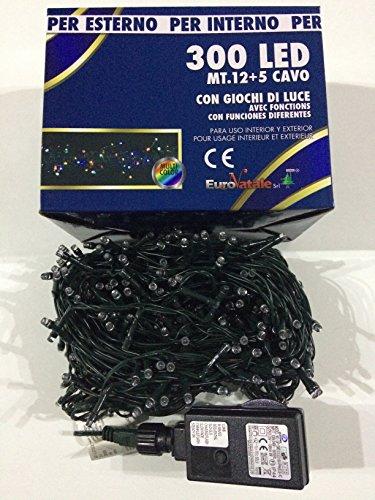 Euronatale CO 300 LUCI di Natale MINILUCCIOLE A LED con Giochi di Luce per Interno ED Esterno (Multicolor)