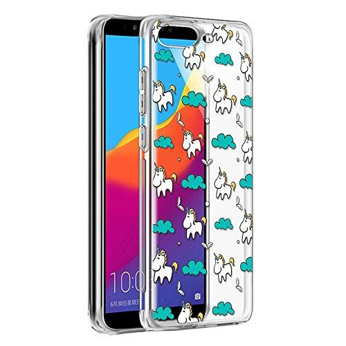 Funda Huawei P8 Lite 2015, Eouine Cárcasa Silicona 3D Transparente con Dibujos Diseño [Antigolpes] de Protector Bumper Case Cover Fundas para Movil Huawei P8Lite 2015-5,0 Pulgadas (Unicornio)