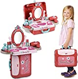 Gopinath Trade™ MakeupSet for Kids, 3 in 1 Toddler Dressing Table & Suitcase Beauty Kids Make Up Dresser Kit, Include Makeup Accessories, Little Girls Role Play Toys Gift for 2,3,4 Years Old