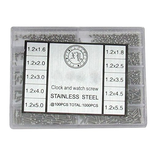 Uhren Werkzeug Schrauben Modellbauschrauben Kleinstschrauben 1.6-5.5 mm (1000 Stück)