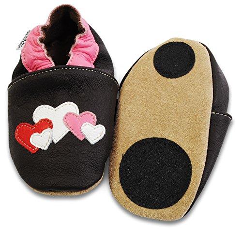 HOBEA-Germany Lauflernschuhe Hausschuhe Kinderschuhe Mädchen, Modell Schuhe:Herzen, Schuhgröße:22/23 (18-24 Monate)