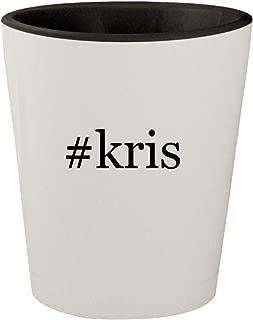 #kris - White Outer & Black Inner Hashtag Ceramic 1.5oz Shot Glass