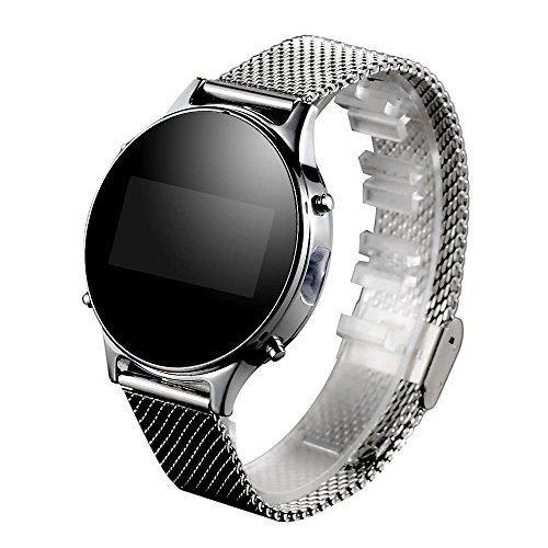 MT360 - Reloj de pulsera inteligente con podómetro y correa de poliuretano (0,96 pulgadas, 240 x 240 píxeles)
