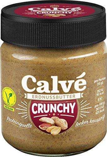 Calve Dressings Brotaufstrich/ Erdnussbutter (Für Erdnuss Butter Junkies Crunchy Erdnussbutter ohne Zuckerzusatz) ( 1 x 210 g)