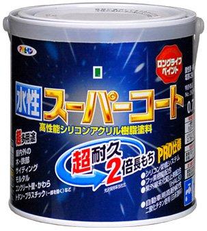 アサヒペン ペンキ 水性スーパーコート 水性多用途 赤さび 0.7L