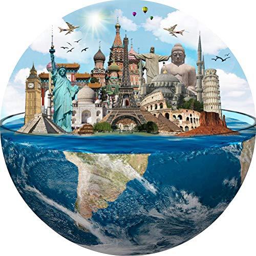 YEKKU Puzzle, 1000 pièces Puzzle Rond Paysage pittoresque Pu