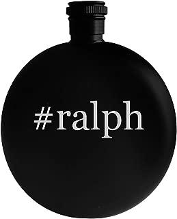 #ralph - 5oz Hashtag Round Alcohol Drinking Flask, Black