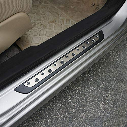 OMAC Stainless Steel Chrome & ABS Plastıc Door Sill Scuff Protect Cover Plate Trim for Mitsubishi Outlander Sport 2011-2021