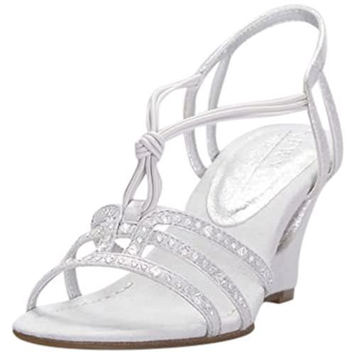 ca8929735d4e David s Bridal Crystal-Studded Cutout Wedges with Knotted Vamp Style  NEWSTOME