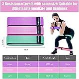 ARAMINPRT Elastische Muskelbänder, rutschfeste Widerstandsbänder aus Stoff 3 Ebenen, elastische Bänder für Gesäß, Hüfte, Beine, Arme, Yoga, Pilates, Fitness, Crossfit - für Männer und Frauen