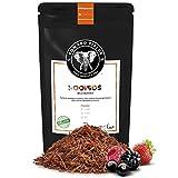 Edward Fields Tea ® - Rooibos orgánico a granel con Frutos Rojos. Rooibos bio recolectado a mano con ingredientes y aromas naturales, 100 gramos, Sudáfrica.