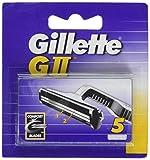 Gillette GII Lame Comfort da uomo intercambiabili, confezione da 5, Lamette di Ricambio, f...
