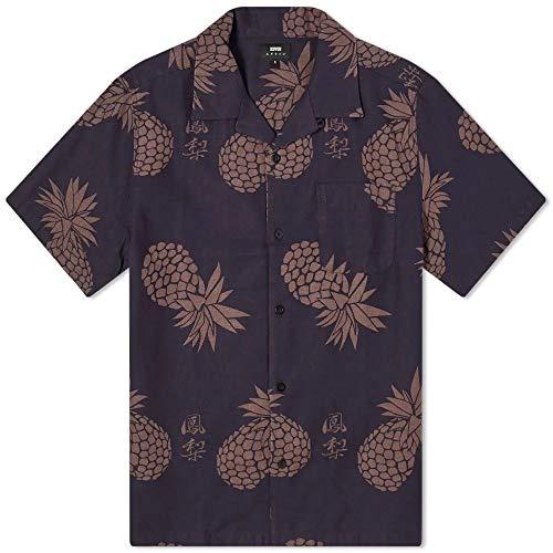 Edwin MULTIVITAMIN SS Shirt - Camicia Maniche Corte in Lino e Cotone - Stampa all Over - (M)