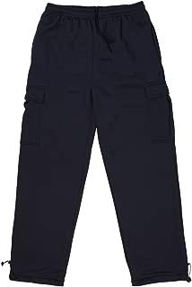 Men's Heavy Fleece Sweat Pants with Cargo Pockets