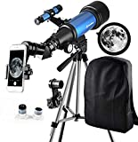Telescope for Kids Beginners - Travel Scope 70mm Apeture Portable Telescope for Early