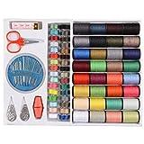 Diamoen 64Spools una Variedad de Colores Hilos de Coser de Costura Set Herramientas del Kit