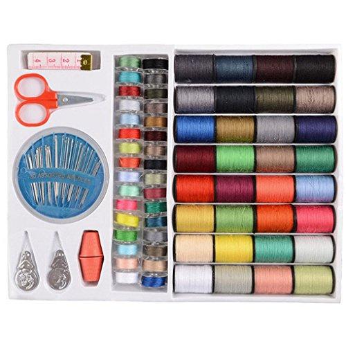 Wiivilik 64Spools Nähgarn Set Sewing Tools Nähgarn Kit, Polyester Kit