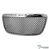 Topline Autopart Chrome Mesh Front Hood Bumper Grill Grille ABS For 11-14 Chrysler 300 / 300C