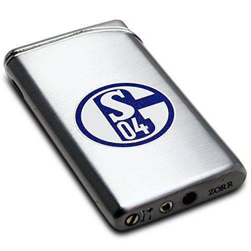 FC Schalke 04 Metall Feuerzeug silber / Lighter silver S04