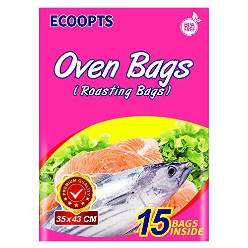 ECOOPTS Bolsas de horno para asar bolsas para pollo, carne, jamón, mariscos, verduras, 15 bolsas (35x 43 cm)…