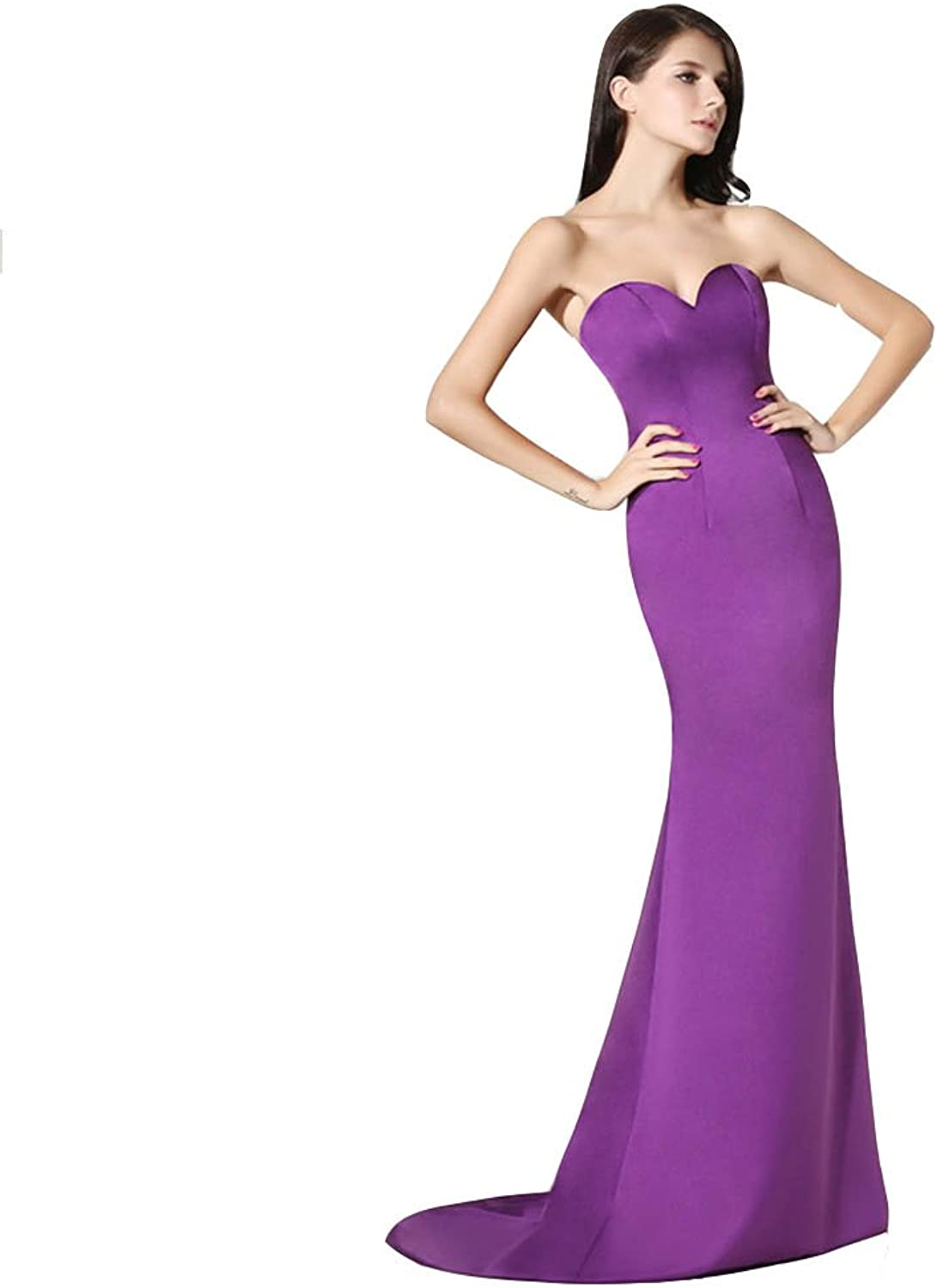 Ai maria Women's Sexy Bust Out Mermaid Long Ball Gown With Concise Style