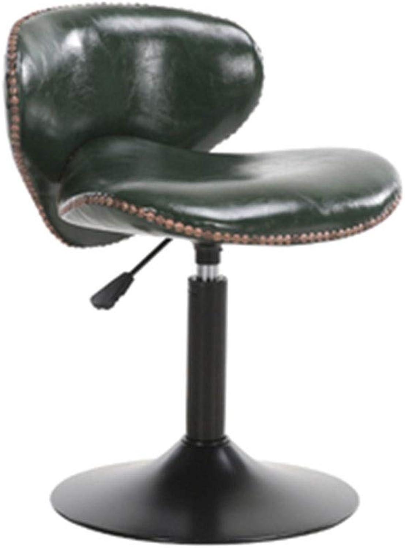 Bar Chair Modern Simple Bar Chair Lifting redation Reception Chair Creative High Stool 5 colors 1 Size (color   Green)