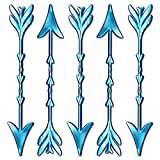 """Royer 6"""" Plastic Arrow Swizzle Sticks, Set of 24 - Made in USA (Pearl Blue)"""