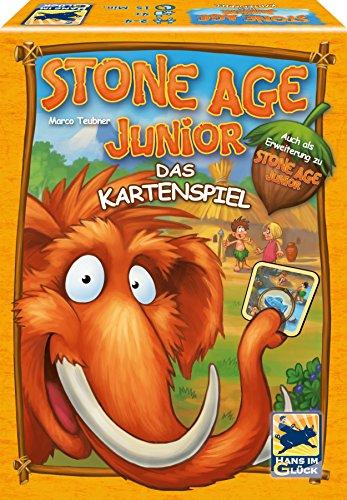 """Schmidt Spiele 48276"""" Stone Age Junior - Juego de Cartas (Madera), Color marrón"""