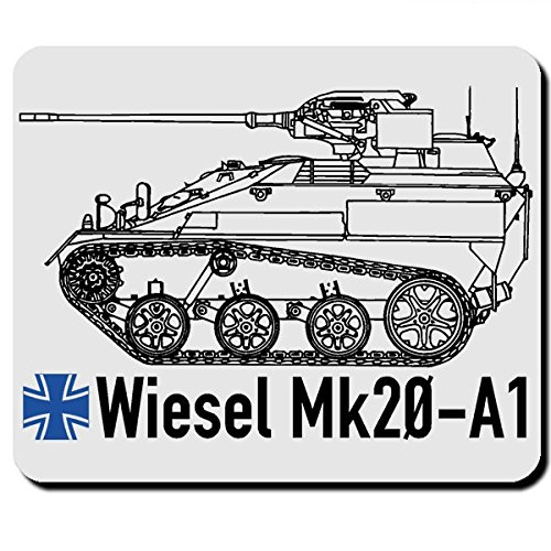 Wiesel Mk20 A1 Bundeswehr Kettenfahrzeug Waffenträger BW Deutschland Heer Panzer Gepanzertes Fahrzeug - Mauspad Mousepad Computer Laptop PC #7974