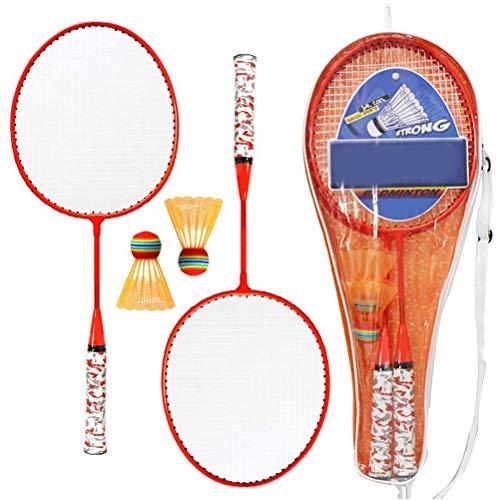 Fallve 子供用バドミントンラケット 安全 小型軽量 使いやすい 子供用 おもちゃ 収納ケース付き スポーツ ヨネックス 贈り物 持ち運び簡単 練習用