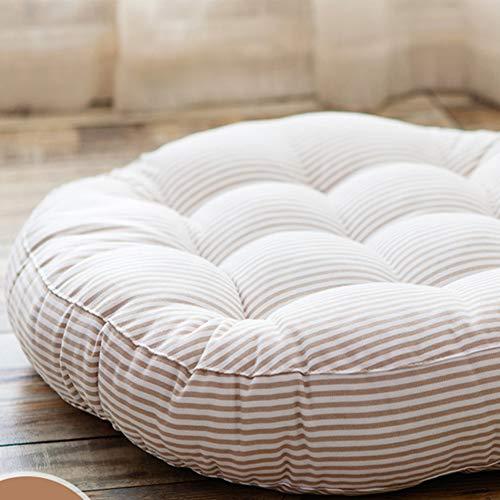 HAOCHI Tufted Thicken Floor Cushion Pillow,Soft Plush Chair Pad Japanese Seat Cushion Round Chair Cushion OVERSIZED Tatami For Tailbone Pain