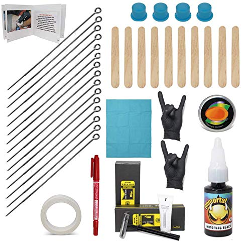 Hand Poke and Stick Tattoo Kit - Clean & Safe Stick & Poke Tattoos - DIY Tattoo Kit (Hand Poke...