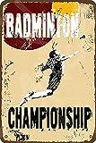 Badminton-Metallschild im Vintage-Stil, Eisengemälde für