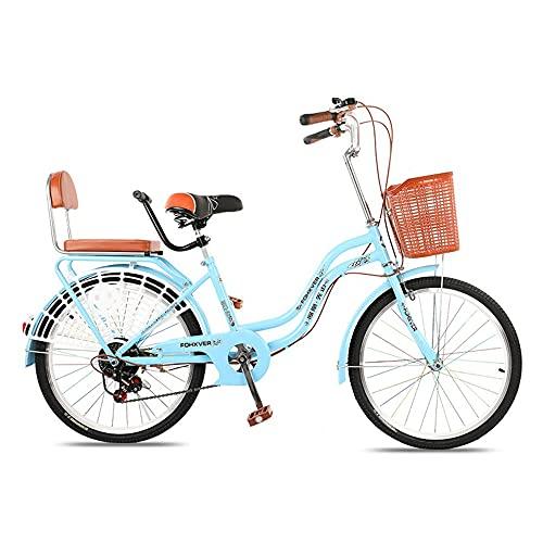 Bicicletas de Velocidad Variable, Bicicletas de CercaníAs, Llantas de 24 Pulgadas, ArmazóN de Acero con Alto Contenido de Carbono de 6 Velocidades, Que Se Usan para Ir Y Volver Del Trabajo