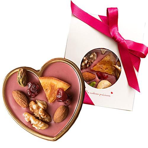西内花月堂 想いをのせる宝石箱 幸せとショコラ ルビーチョコレート (小) ミニハート型 (1個)