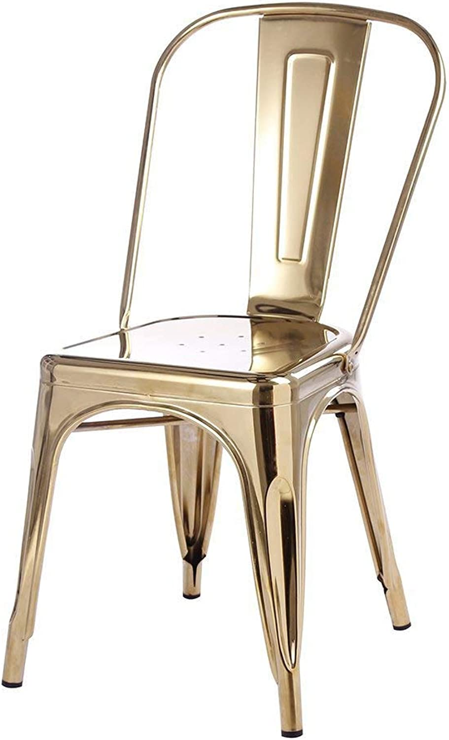 Tolix Style Dining Chair, gold