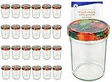 Set da vasetti da 230ML alto Deckel Colore frutta parete to 66con diamante gelier zauber ricettario, Marmellata, barattoli, barattoli, Occhiali