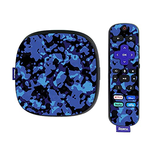 MightySkins Skin Compatible with Roku Ultra HDR 4K Streaming Media Player (2020) - Blue Modern Camo | Protective, Durable, and Unique Vinyl Decal wrap Cover | Easy to Applys | Made in The USA