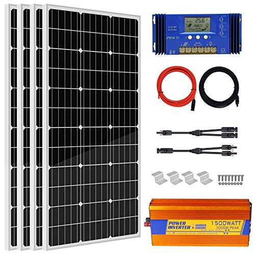 400 Watts Off Grid Solar Power System: 4pcs...