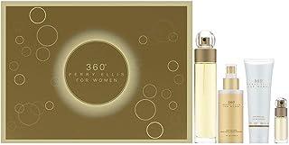 PERRY ELLIS 360 For Women Eau De Toilette Spray, 3.4 Oz + Body Mist, 4 oz. + Shower Gel, 3 Oz. + Mini Eau de Toilette Spr...