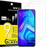 NEW'C 3 Unidades, Protector de Pantalla para Xiaomi Redmi Note 9, Xiaomi Redmi 10X 4G, Antiarañazos, Antihuellas, Sin Burbujas, Dureza 9H, 0.33 mm Ultra Transparente, Vidrio Templado Ultra Resistente