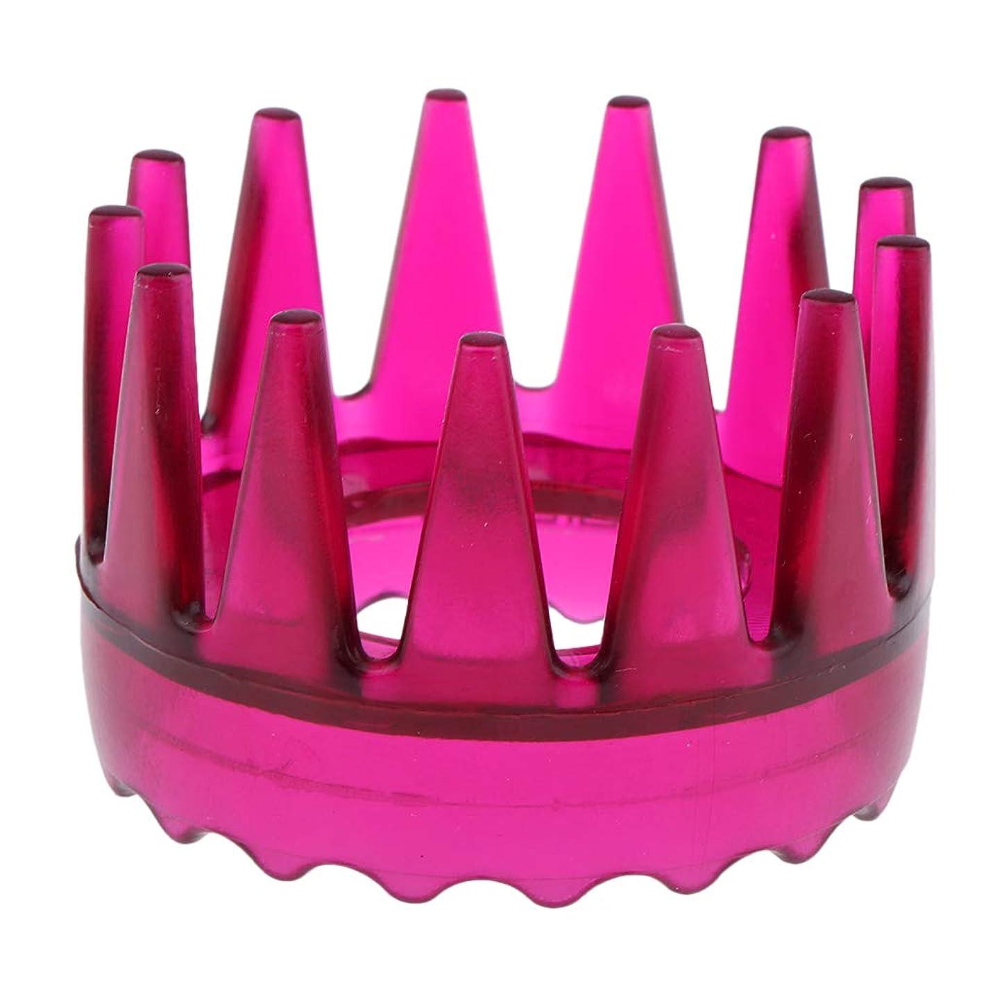 戦艦ゲインセイ要件Sharplace 頭皮マッサージ 櫛 シャワー シャンプー ヘアブラシ 4色選べ - ローズレッド