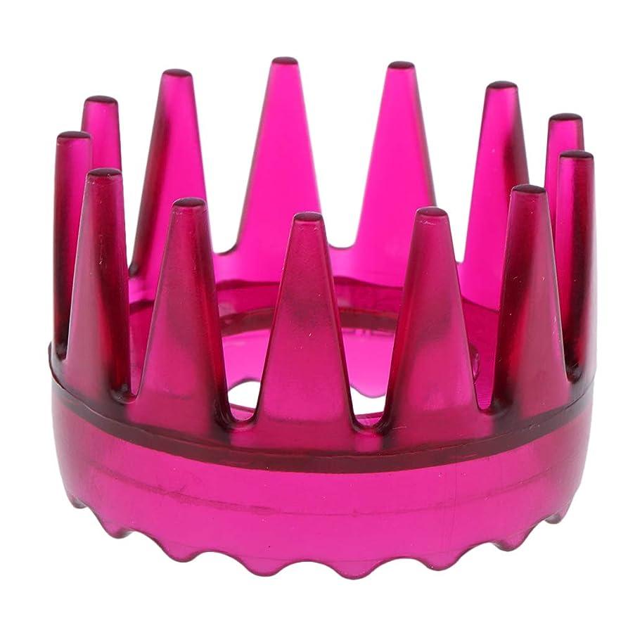 ドメイン柱凶暴なSharplace 頭皮マッサージ 櫛 シャワー シャンプー ヘアブラシ 4色選べ - ローズレッド