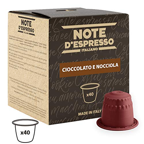 Note D'Espresso Cápsulas de Chocolate con Avellana - 40 x 7 g, Total: 280 g