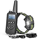 F-color Dog Training Collar, Upgraded 2600Ft Rechargeable 4 Modes Collar for Dogs with Remote, Water Resistant Training Collar for Large Medium Small Dog
