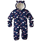 The Children's Place Baby Girls Hooded Snowsuit Set, Milky Way, 6-9MONTHS